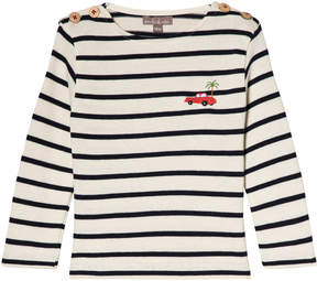 Emile et Ida Marine and Ecru Striped T-Shirt