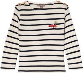 Emile et Ida Marine and Ecru Striped T-Shirt