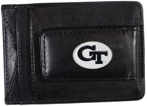 NCAA Georgia Tech Yellow Jackets Black Leather Cash & Card Holder