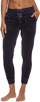 Betsey Johnson Lace Up Skinny Velour Pants 8161887