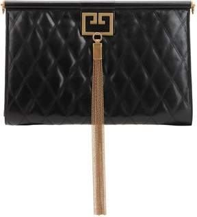 Givenchy Large Gem Quilted Leather Clutch