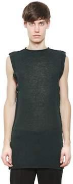 Damir Doma Sleeveless Sheer Mohair Blend Sweater