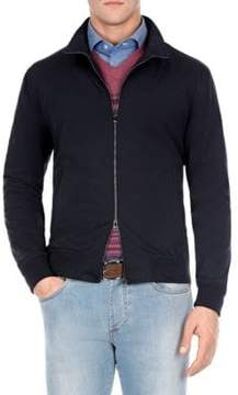 Isaia Jersey Bomber Jacket