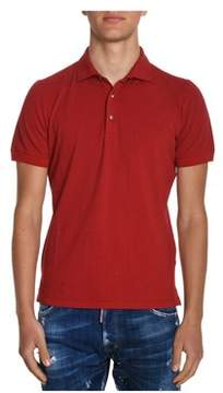 H953 Men's Red Cotton Polo Shirt.