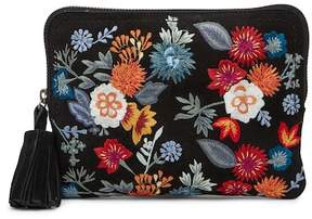 Lucky Brand Super Bloom Floral Embroidered Zip Pouch