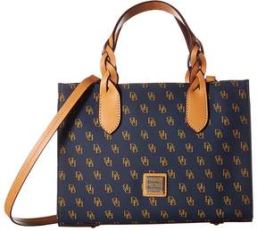 Dooney & Bourke Blakely Gia Satchel Satchel Handbags - NAVY/WHITE/BTRSCTCH TRIM - STYLE