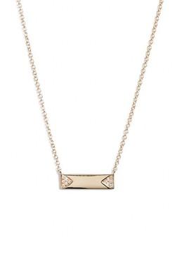 Ef Collection Women's Diamond Id Pendant Necklace