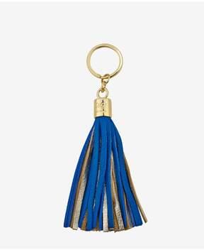GiGi New York Tassel Key Chain In Cobalt And Gold