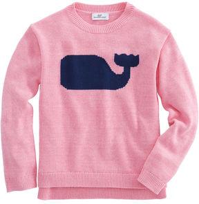 Vineyard Vines Girls Solid Whale Intarsia Sweater