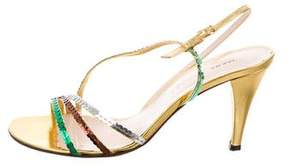 Marc Jacobs Sequined Slingback Sandals