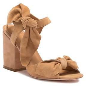 Bill Blass Carmen Bow Suede Block Heel Sandal