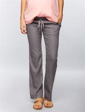 A Pea in the Pod Under Belly Linen Wide Leg Maternity Pants