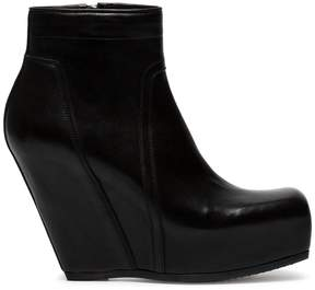 Rick Owens Black Concealed Wedge 110 leather boots