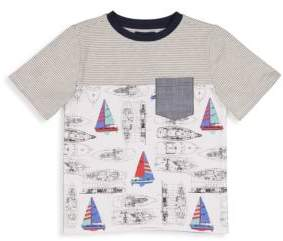 Andy & Evan Little Boy's Vintage Sailboat Tee
