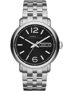 Marc Jacobs Marc by Fergus MBM5075 Silver/Black Analog Quartz Men's Watch