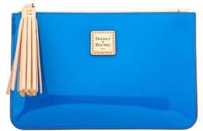Dooney & Bourke Patent Carrington Pouch - BLUE - STYLE