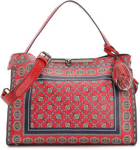 Women's Athena Satchel -Red/Blue