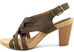 Giani Bernini Womens Justyne Leather Open Toe Casual Strappy Sandals.