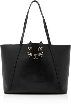 Charlotte Olympia Black Calfskin Feline Tote