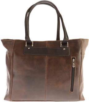 Piel Leather Vintage Executive Tote 2983