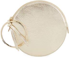 Sara Battaglia Metallic Leather Round Bracelet Wallet