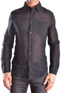 Frankie Morello Men's Black Cotton Shirt.