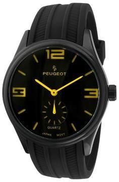 Peugeot Watches Men's Sport Watch - Black/Yellow