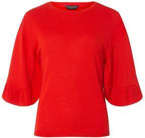 Dorothy Perkins Red Ruffle Sleeve Jumper