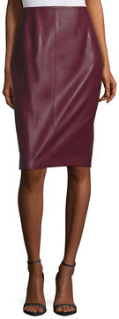 BELLE + SKY Pleather Pencil Skirt