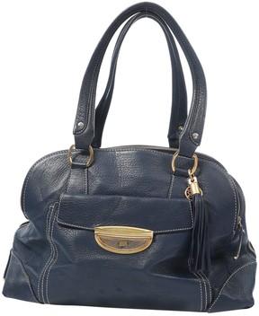 Lancel Adjani Blue Leather Handbag