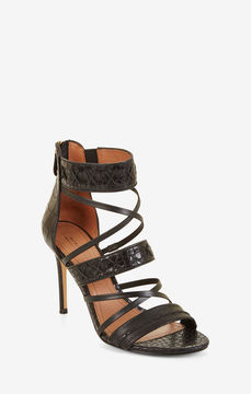 BCBGMAXAZRIA Sylvana Embossed Leather Sandal