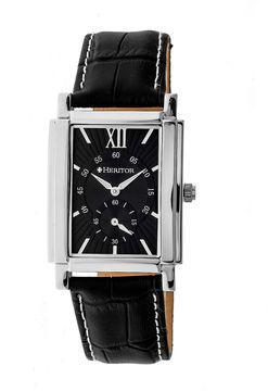 Heritor Frederick Mens Black Strap Watch-Herhr6102