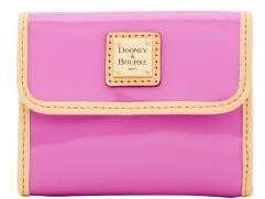 Dooney & Bourke Patent Small Flap Wallet - ORCHID - STYLE