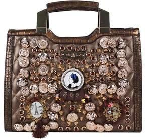 Nicole Lee Darva Vintage Button Mini Briefcase (Women's)
