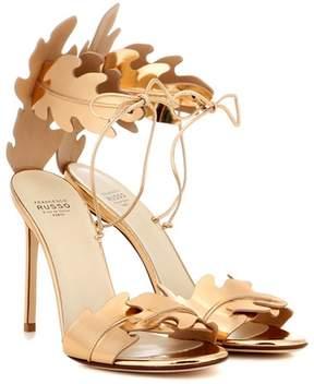 Francesco Russo Metallic leather sandals