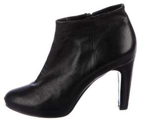 Roberto Del Carlo Leather Round-Toe Ankle Boots