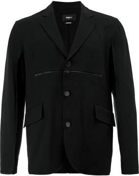 Yang Li zipped chest blazer