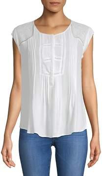 Daniel Rainn Women's Cap-Sleeve Top
