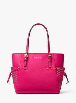 Michael Kors Voyager Small Saffiano Leather Tote - PINK - STYLE