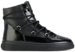 Hogan criss-cross lace boots