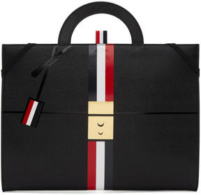Thom Browne Black Trompe LOeil Folio Briefcase