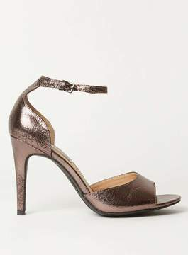 Dorothy Perkins Pewter 'Shay' Heeled Sandals