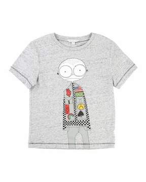 Little Marc Jacobs Mister Marc Essential Short-Sleeve Tee, Size 4-5