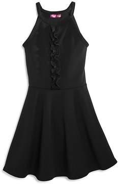 Aqua Girls' Textured Dress with Ruffled Bodice, Big Kid - 100% Exclusive