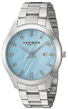 Akribos XXIV Blue Mother of Pearl Dial Ladies Watch