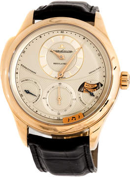 Jaeger-LeCoultre Jaeger Lecoultre Master Grand Tradition 18kt Yellow Gold Black Leather Men's Watch
