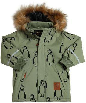 Mini Rodini Penguins Waterproof Nylon Ski Jacket