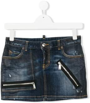 DSQUARED2 Teen mini denim skirt