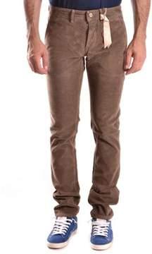 Siviglia Men's Brown Cotton Pants.
