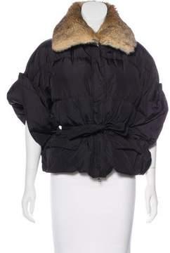 ADD Fur-Trimmed Dolman Coat